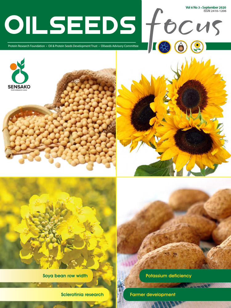 Cover of Oilseeds Focus Oilseeds Focus Vol 6 No 3 - September 2020