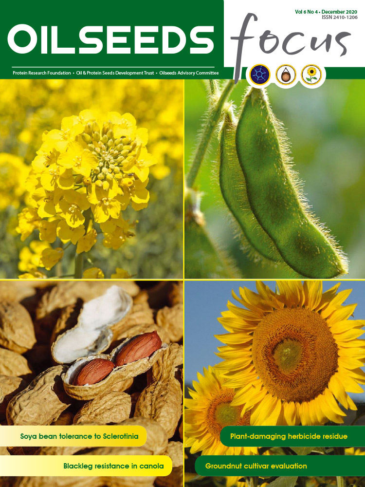 Cover of Oilseeds Focus Oilseeds Focus Vol 6 No 4 - December 2020