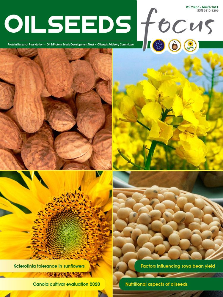 Cover of Oilseeds Focus Oilseeds Focus Vol 7 No 1 - March 2021